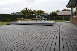 Deck and house